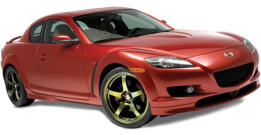 2006 Mazda RX-8 на дисках 19 Kosei K3 Emery Gold