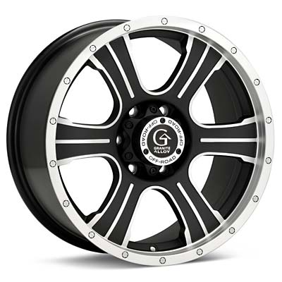Автомобильные диски Granite Alloy GV6 Machined w/Black Accent