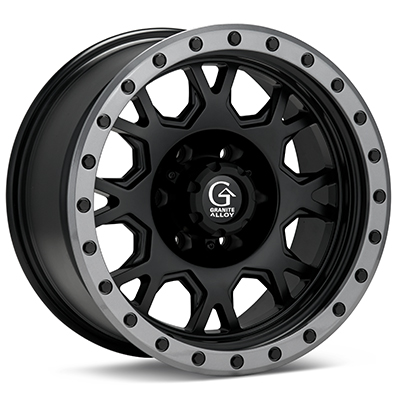 Автомобильные диски Granite Alloy GV8 Black w/Anthracite Lip