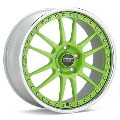 Автомобильные диски O.Z. Racing Tuner System Superleggera III Green w/Polished Lip
