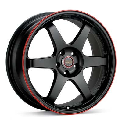 Автомобильные диски Volk Racing TE37 Time Attack Black w/Red Stripe