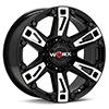 диски WORX 803 Beast 8-Lug Black w/Milled Accent